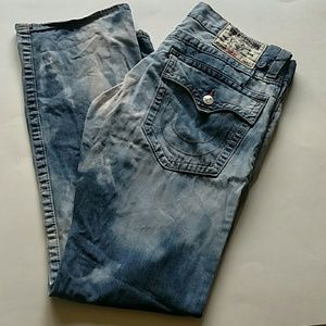 True Religion Mens Bleached jeans